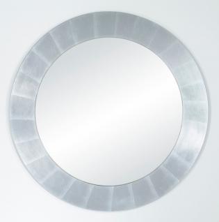 Casa Padrino Wohnzimmer Spiegel Silber Ø 110 cm - Luxus Kollektion