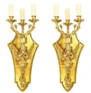 Casa Padrino Barock Wandkerzenhalter Set Gold 20 x 20 x H. 50 cm - Barock Deko Accessoires - Vorschau 3