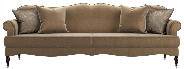 Casa Padrino Luxus Barock Wohnzimmer Sofa Khaki 245 x 90 x H. 95 cm - Wohnzimmer Möbel im Barockstil - Edel & Prunkvoll