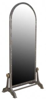 Casa Padrino Luxus Standspiegel Grau 85 x 47 H. 197 cm - Spiegel im Indusriedesign