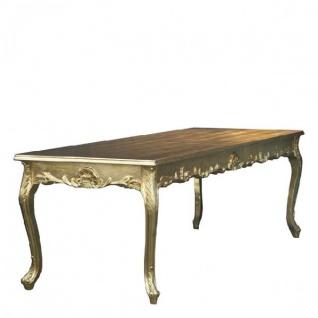 Casa Padrino Barock Esstisch Gold 140cm - Esszimmer Tisch - Möbel