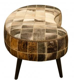 Casa Padrino Luxus Sitzbank mit Kuhfell 130 x 60 x H. 50 cm - Designermöbel - Vorschau 3