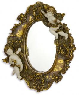 Casa Padrino Barockstil Spiegel / Wandspiegel Antik Gold 18, 6 x H. 22, 8 cm - Barock Deko
