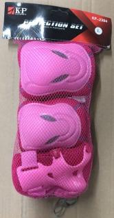 Kinder Knie, Ellenbogen und Handgelenk Schoner Set L Pink - 1B Ware mit Lagerspuren