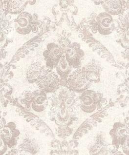 Casa Padrino Barock Textiltapete Weiß / Rosa 10, 05 x 0, 53 m - Wohnzimmer Deko Accessoires
