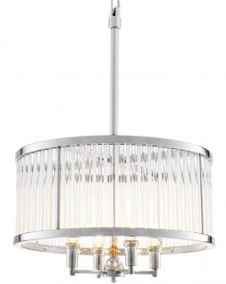 Casa Padrino Luxus Kronleuchter Silber 52 x H. 74 cm - Designer Wohnzimmer Möbel