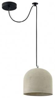 Casa Padrino Hängeleuchte Grau Ø 20 x H. 18 cm - Moderne Pendelleuchte mit Beton Lampenschirm