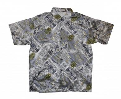 Thai Seidenhemd von Il Padrino Moda Grey/White/Yellow Mod9 Hawaii Hemd