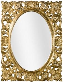 Casa Padrino Luxus Barock Wandspiegel Gold 73 x 6 x H. 95 cm - Wohnzimmer Spiegel - Garderoben Spiegel - Barock Spiegel