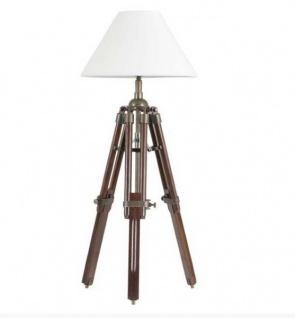 Designer Stativ-Lampe Telescope, Hockerleuchte mit weissem Schirm, H: 60 cm - Tripod lamp