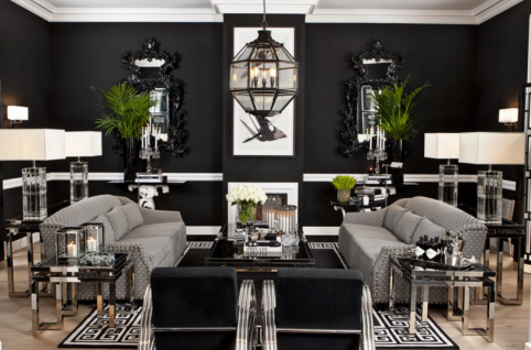 Casa Padrino Luxus Art Deco Designer Beistelltisch mit Rauchglas - Hotel Tisch Möbel - Vorschau 3