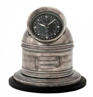 Designer Luxus Uhr Compass Henry Lloyd Collection versilbert Altik-Look- Edel & Prunkvoll - Tischuhr - Vorschau 2