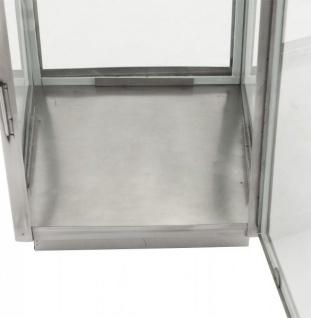 Casa Padrino Designer Laterne Aluminium Silber / Glas - Kerzenleuchter Vintage Stil - Vorschau 3