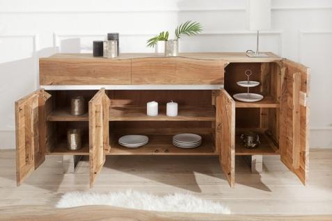 Casa Padrino Luxus Sideboard Natur B.170 x H.90 x T.45 - Fernsehschrank - Kommode - Handgefertigt aus massivem Akazienholz! - Vorschau 3