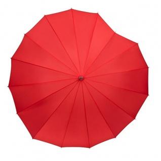 """MySchirm Designer Regenschirm, Motivschirm """" Herz"""" in Rot Model Paris - Eleganter Stockschirm - Vorschau 2"""