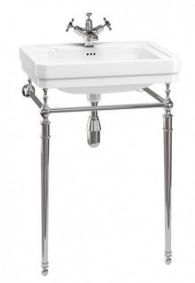 Casa Padrino Jugendstil Stand Waschtisch Weiß / Chrom Mod4 - Art Deco Waschbecken Barock Antik Stil