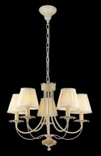 Casa Padrino Barock Decken Kronleuchter Elfenbein 63 x H 50 cm Antik Stil - Möbel Lüster Leuchter Hängeleuchte Hängelampe