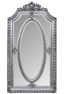 Casa Padrino Antik Stil Spiegel / Wandspiegel Silber 118 x H. 207 cm - Barock Wohnzimmer Möbel