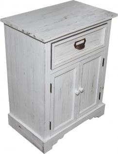 Casa Padrino Shabby Chic Landhaus Stil Kommode mit Schubladen Antik Weiß B 50 cm, H 64 cm - Antik Kommode - Vorschau 2