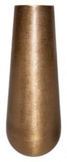 Casa Padrino Aluminium Vase Gold Ø 35 x H. 100 cm - Luxus Deko Vase
