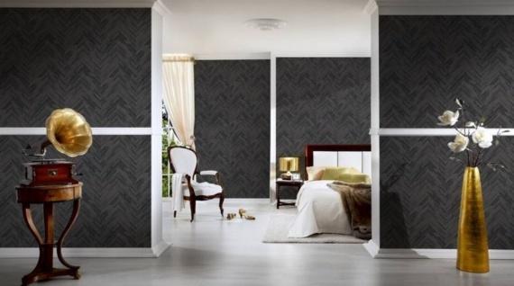 Versace Designer Barock Vliestapete IV 37051-4 Grau / Schwarz - Tapete mit Holzstruktur - Hochwertige Qualität - Vorschau 2