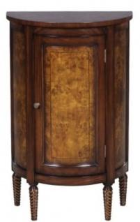Casa Padrino Luxus Jugendstil Kommode Hellbraun / Braun 51 x 28 x H. 82 cm - Kleiner Halbrunder Schrank mit Tür