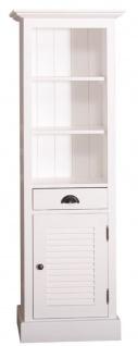 Casa Padrino Landhausstil Badezimmerschrank mit Tür und Schublade Weiß 54 x 41 x H. 160 cm - Badezimmermöbel im Landhausstil