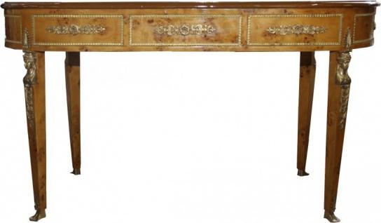 Casa Padrino Luxus Barock Empire Schreibtisch Sekretär 3 Schubladen 150 cm - Handgefertigt aus Massivholz - Barock Schreibtisch Büro Möbel - Vorschau 4