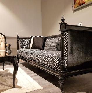 Casa Padrino Luxus Barock Sofa Zebra / Schwarz - Handgefertigtes Wohnzimmer Sofa im Barockstil - Edle Barock Wohnzimmer Möbel - Vorschau 2