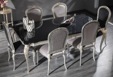 Casa Padrino Luxus Barock Esszimmer Set - 1 Esstisch & 6 Esszimmerstühle - Esszimmermöbel im Barockstil - Luxus Qualität - Edel & Prunkvoll