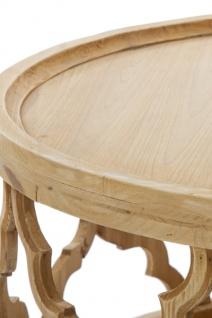 Casa Padrino Designer Couchtisch Naturfarben Ø 80 x H. 37 cm - Moderner Runder Holz Wohnzimmertisch - Vorschau 2