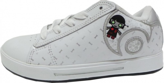 Osiris Skateboard Schuhe Serve Icon Girls Kids White/Lucy Lies/Scatter