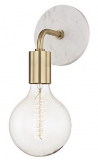 Casa Padrino Luxus Wandleuchte Antik Messingfarben / Weiß 12, 7 x 16, 5 x H. 33 cm - Hotel & Restaurant Wandlampe