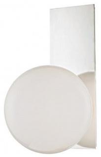 Casa Padrino Luxus LED Wandleuchte Silber / Weiß 19, 1 x 16, 5 x H. 32, 4 cm - Hotel & Restaurant Lampe