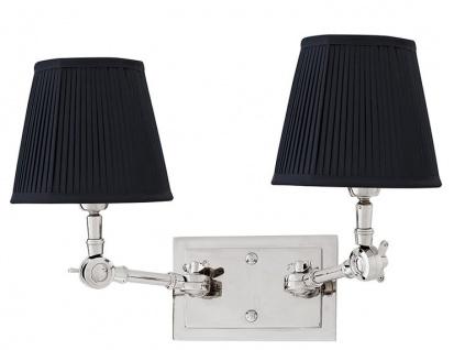 Casa Padrino Luxus 2er Wandleuchte Schwarz / Nickel Finish - Leuchte - Luxury Collection