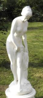 Casa Padrino Jugendstil Gartendeko Skulptur Weiß H. 120 cm - Garten Deko Figur - Garten & Terrassen Deko Accessoires