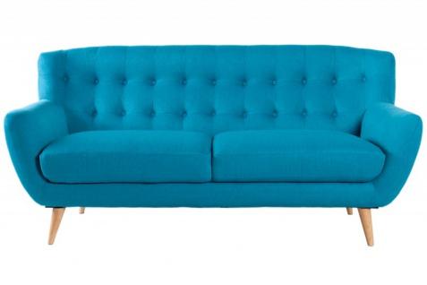 Chesterfield 3er Sofa blau aus dem Hause Casa Padrino - Wohnzimmer Möbel - Couch - Vorschau 2