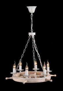 Casa Padrino Barock Decken Kronleuchter Weiß 60 x H 51 cm Antik Stil - Möbel Lüster Leuchter Hängeleuchte Hängelampe