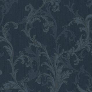 Casa Padrino Barock Textiltapete Blau 10, 05 x 0, 53 m - Hochwertige Wohnzimmer Tapete im Barockstil