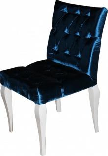 Casa Padrino Barock Esszimmer Stuhl Blau - Designer Stuhl - Luxus Qualität