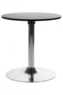 Designer Beistell Tisch aus dem Hause Casa Padrino ABS Höhe 60 cm, Tisch Durchmesser 60 cm Schwarz - Cafe Messe Hotel Praxis Kanzlei Einrichtung Beistelltisch