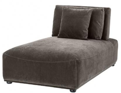 Casa Padrino Luxus Chaiselongue Grau / Schwarz 93 x 158 x H. 83 cm - Liegesessel mit Rückenlehne und 2 Kissen - Wohnzimmer Möbel