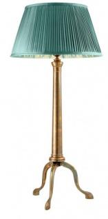 Casa Padrino Art Deco Luxus Tischleuchte Messing / Türkis H 67 cm - Leuchte - Luxury Collection - Vorschau