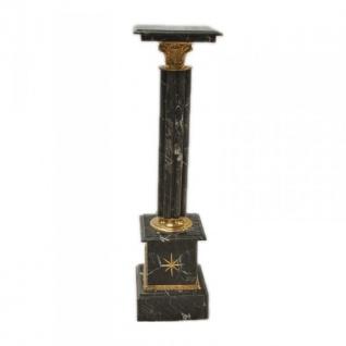 Casa Padrino Barock Säule aus Marmor schwarz Höhe: 100cm, Breite: 30cm, Tiefe: 30 cm - Marmorsäule