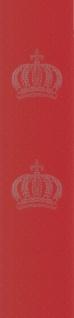 Harald Glööckler Designer Barock Vliestapete 52711 - Kronen - Rot mit Straßsteinen