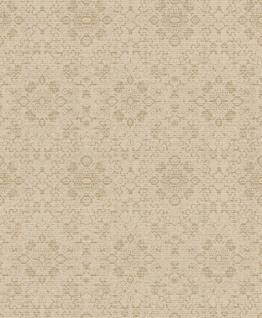 Casa Padrino Barock Tapete Beige / Gold 10, 05 x 0, 53 m - Textiltapete im Barockstil