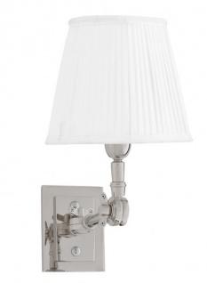 Casa Padrino Luxus 1er Wandleuchte Weiss / Nickel Finish - Leuchte - Luxury Collection