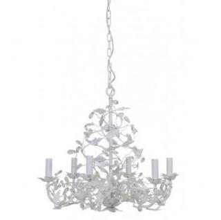 Casa Padrino Barock Decken Kronleuchter Weiß Durchmesser 65 x H 60 cm Antik Stil - Möbel Lüster Leuchter Deckenleuchte Hängelampe