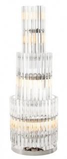 Casa Padrino Luxus Tischleuchte Eiszapfen Glas / Nickel Finish - Leuchte - Luxury Collection