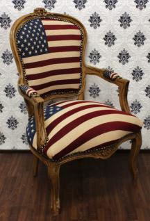 Barock Salon Stuhl USA Design / Wood - USA Style
